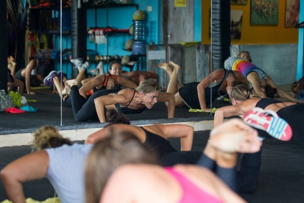 Mel putting us through our paces at Motion Fitness Bali