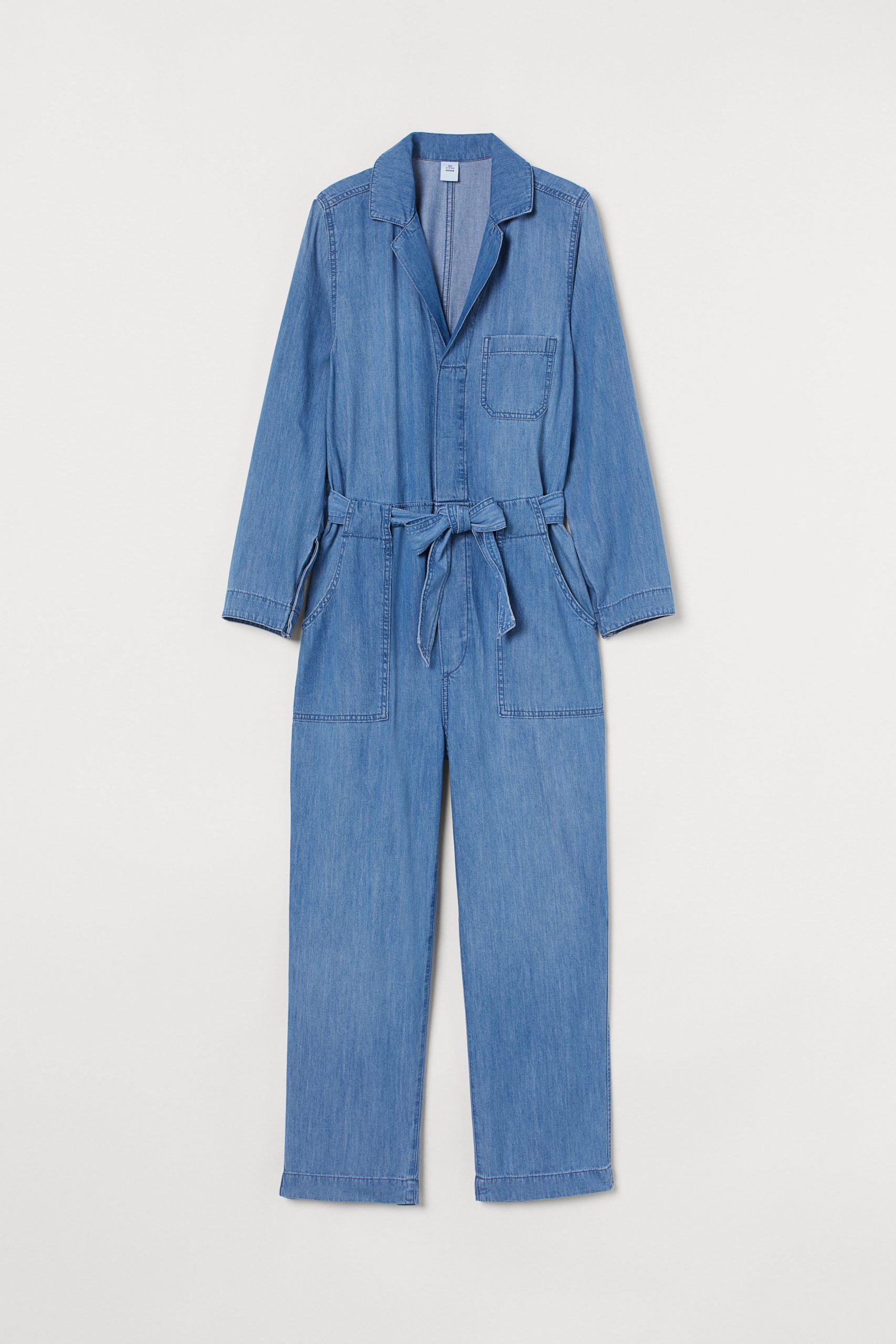 Denim boiler suit in soft recycled cotton