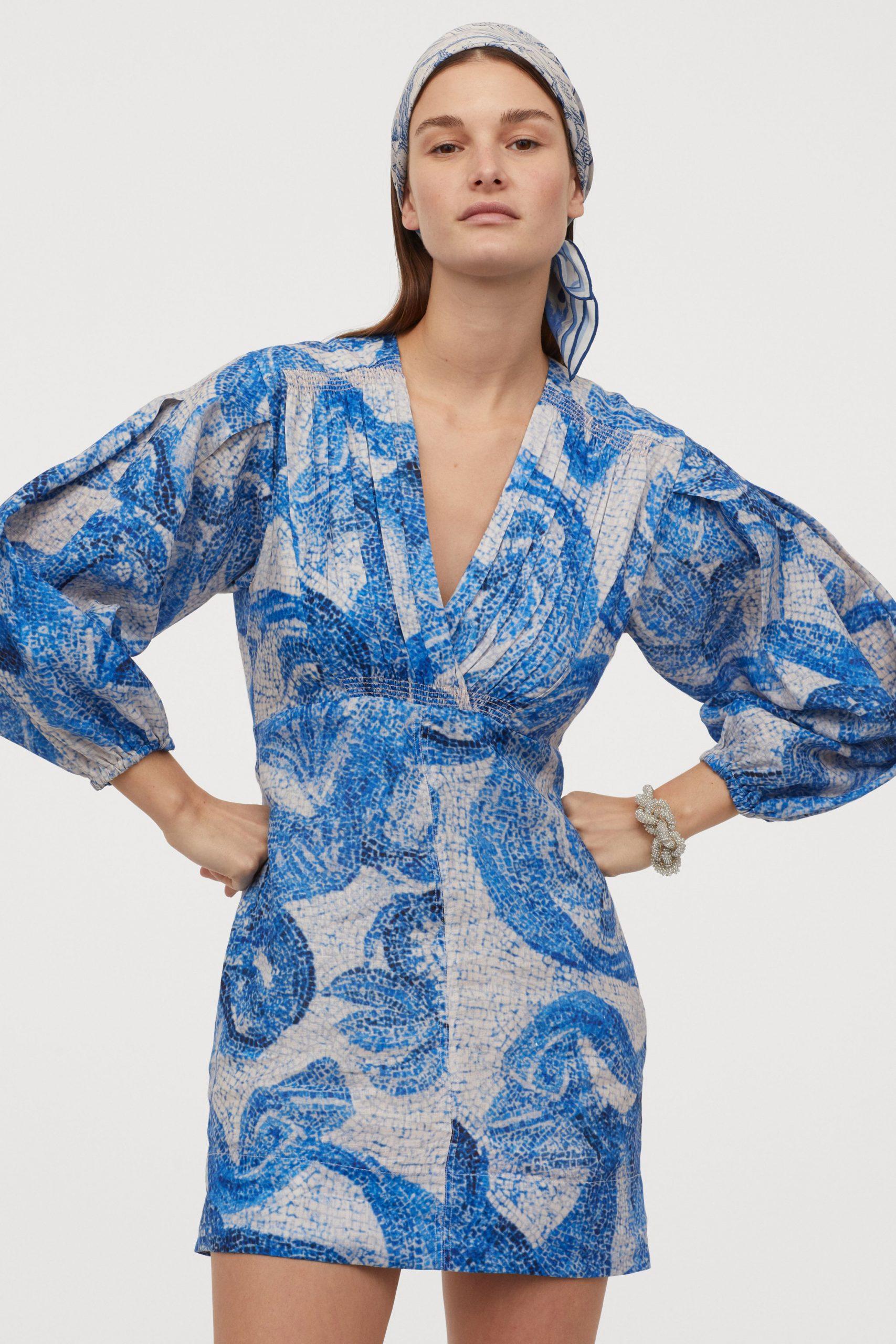 Organic linen mosaic dress £79.99